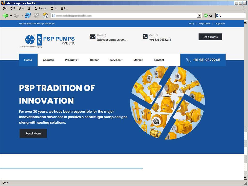 PSP Pumps-total industrial pump solution